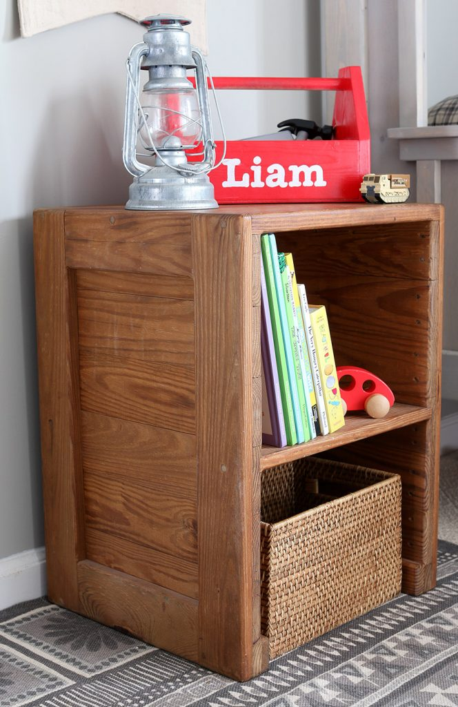 How to build a DIY rustic nightstand. Free building plans by Jen Woodhouse