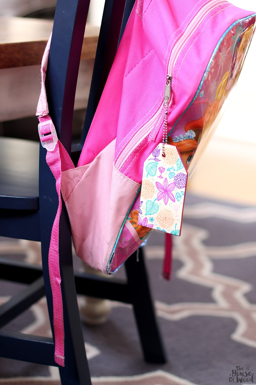 How to make DIY wood school bag tags