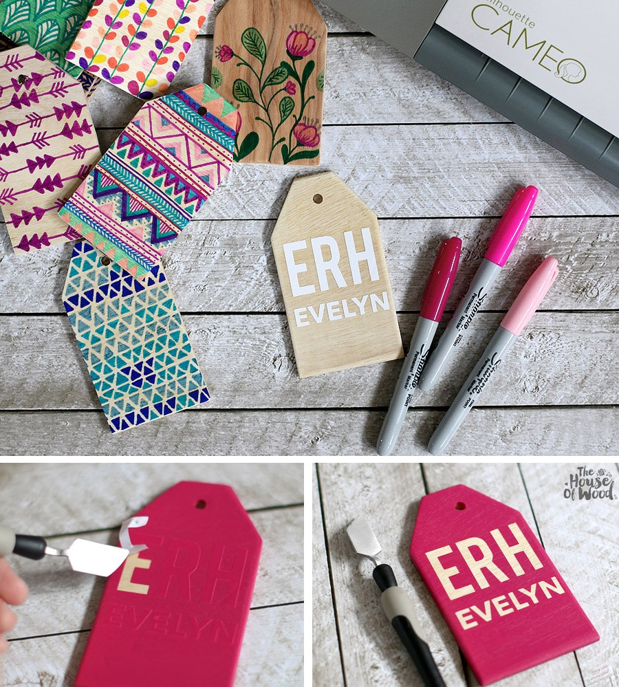 How to make DIY wood name tags for back to school