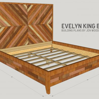 Evelyn Chevron King Bed