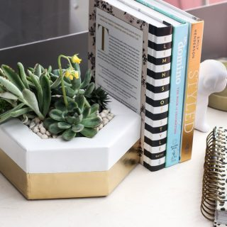 How to make a DIY hexagon planter out of 2x4 scrap wood via Jen Woodhouse