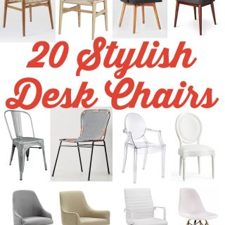 20 Stylish and Chic Office Desk Chairs via Jen Woodhouse