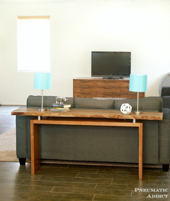 DIY Live Edge Console Table by Pneumatic Addict