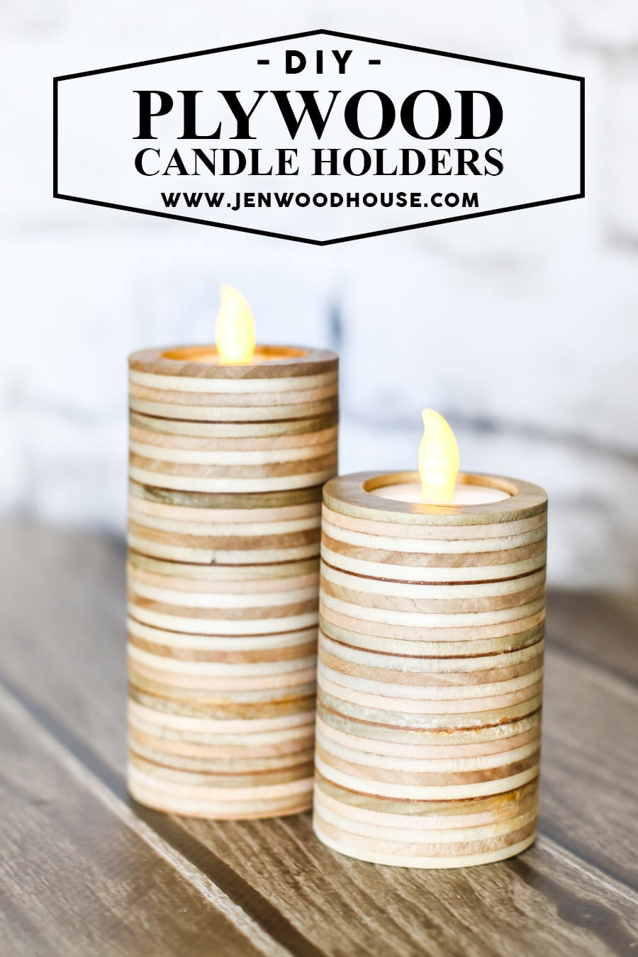how to make diy tea light candle holders out of scrap plywood - Diy Candle Holders