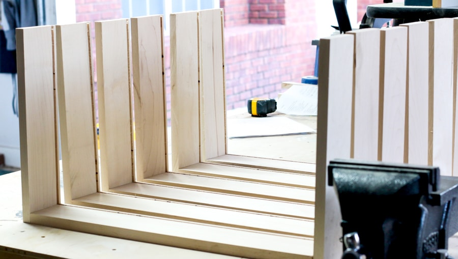 How to build DIY nightstands with charging station! Free plans by Jen Woodhouse