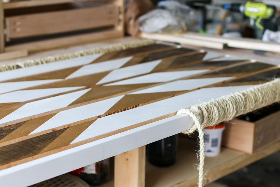 How to make a DIY wood and rope doormat