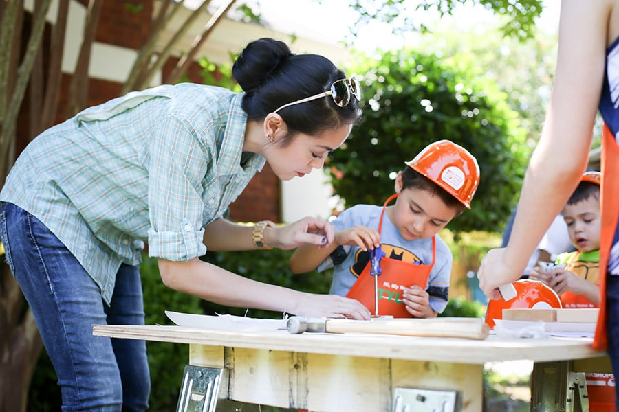 Host a construction-themed birthday party with supplies from The Home Depot!
