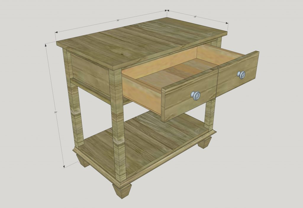 How to build a DIY Pottery Barn-inspired Sausalito Bedside table - free plans by Jen Woodhouse