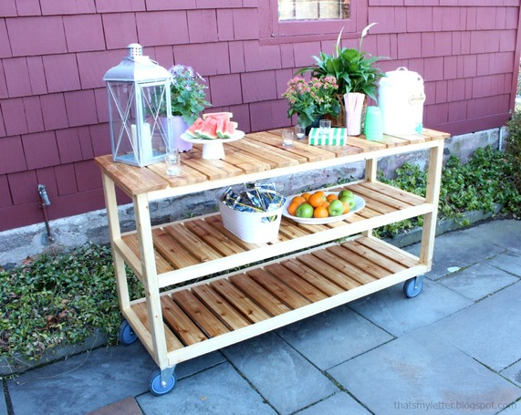 How to build a DIY outdoor rolling console