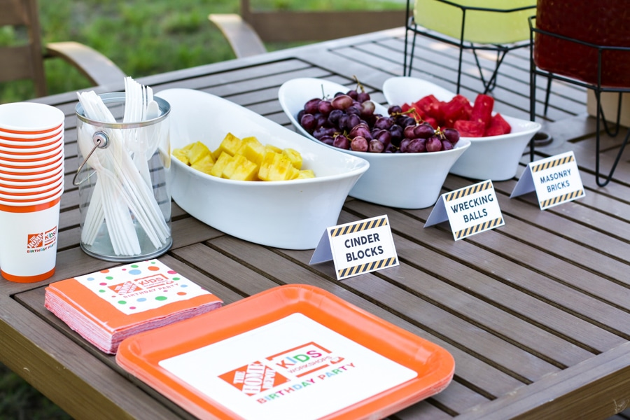 What a fun birthday party idea! A construction-themed party where kids can build things!