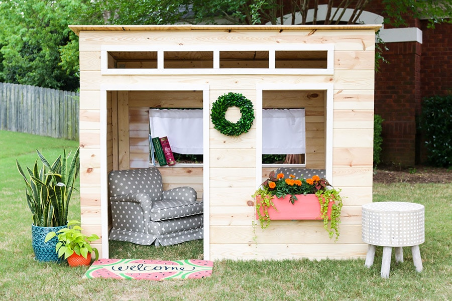 How To Build A Kids Indoor Playhouse Photo