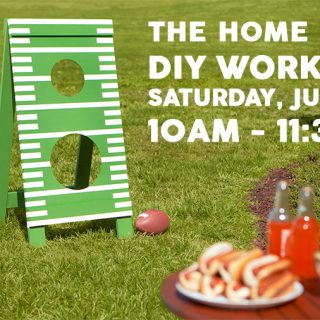 How to make a DIY father's day football toss at the Home Depot DIY Workshop