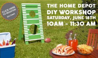 The Home Depot's DIY Workshops Football Toss