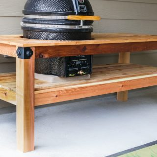 How to build a DIY Big Green Egg BGE Table Kamado Joe Table