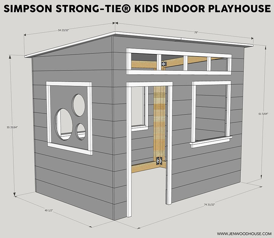 How To Build A DIY Kids Indoor Playhouse With Simpson Strong Tie