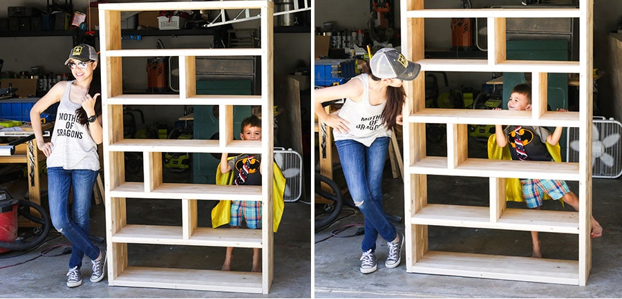How to build a crates and pallet bookshelf