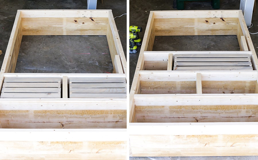 How to build a pallet bookshelf with crates