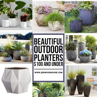 Great round-up of outdoor planters that are $100 or less!