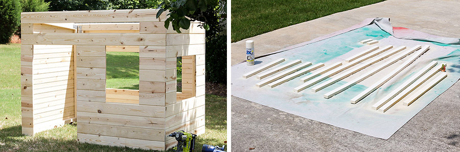 How to build a DIY kids playhouse