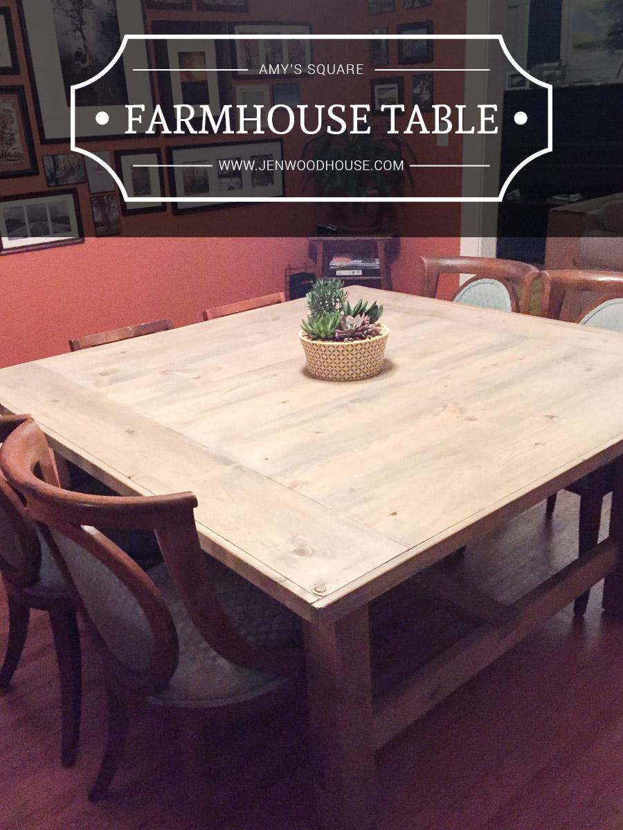 Diy Square Farmhouse Coffee Table Plans