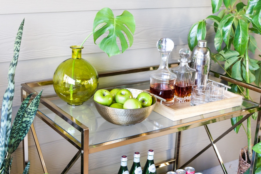 How to style an outdoor beverage station