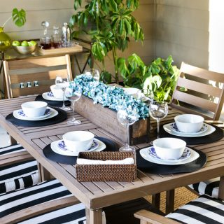 Decorating ideas for a covered patio