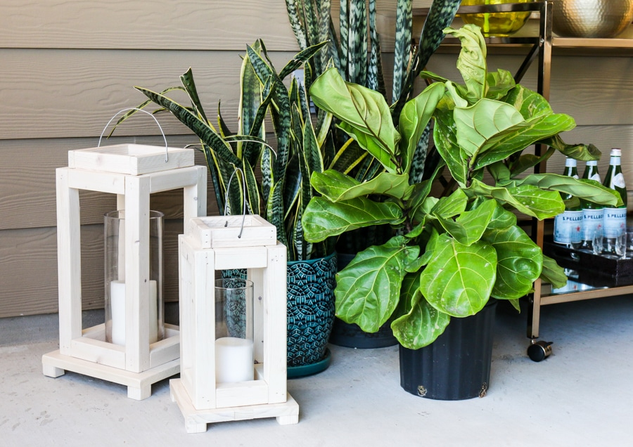 Outdoor decorating ideas - love the rustic lanterns