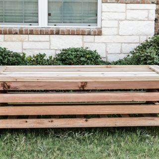 How To Build A DIY Outdoor Storage Ottoman