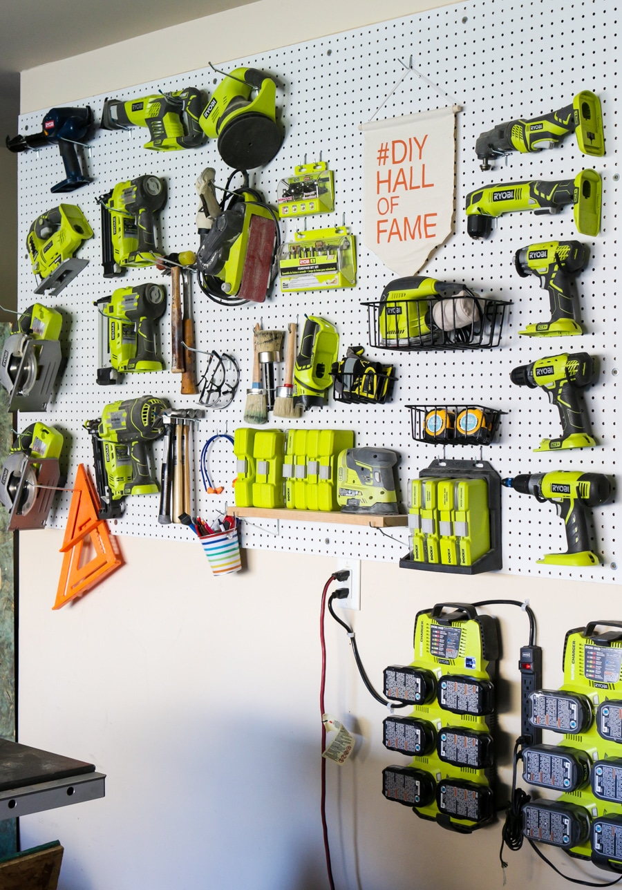 creative workshop organization how to organize tools using pegboard