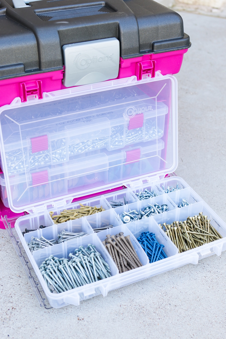 How to stylishly organize and store screws, nails, and other fasteners