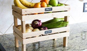 DIY Stackable Fruit & Veggie Crate