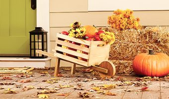 The Home Depot's DIH Workshop: Rustic Fall Wheelbarrow