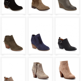 Favorite Booties - perfect for Fall! And they're all $100 or less!