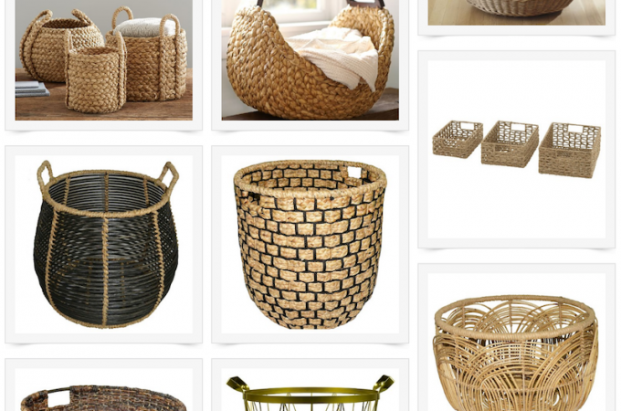 Baskets are perfect for storing toys, books, blankets and more. They're so versatile and stylish - here's a round up of my favorite ones.