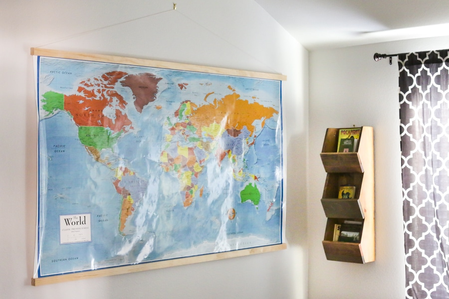 Diy homeschool world map with magnetic frame how to frame a world map with a diy magnetic frame gumiabroncs Images