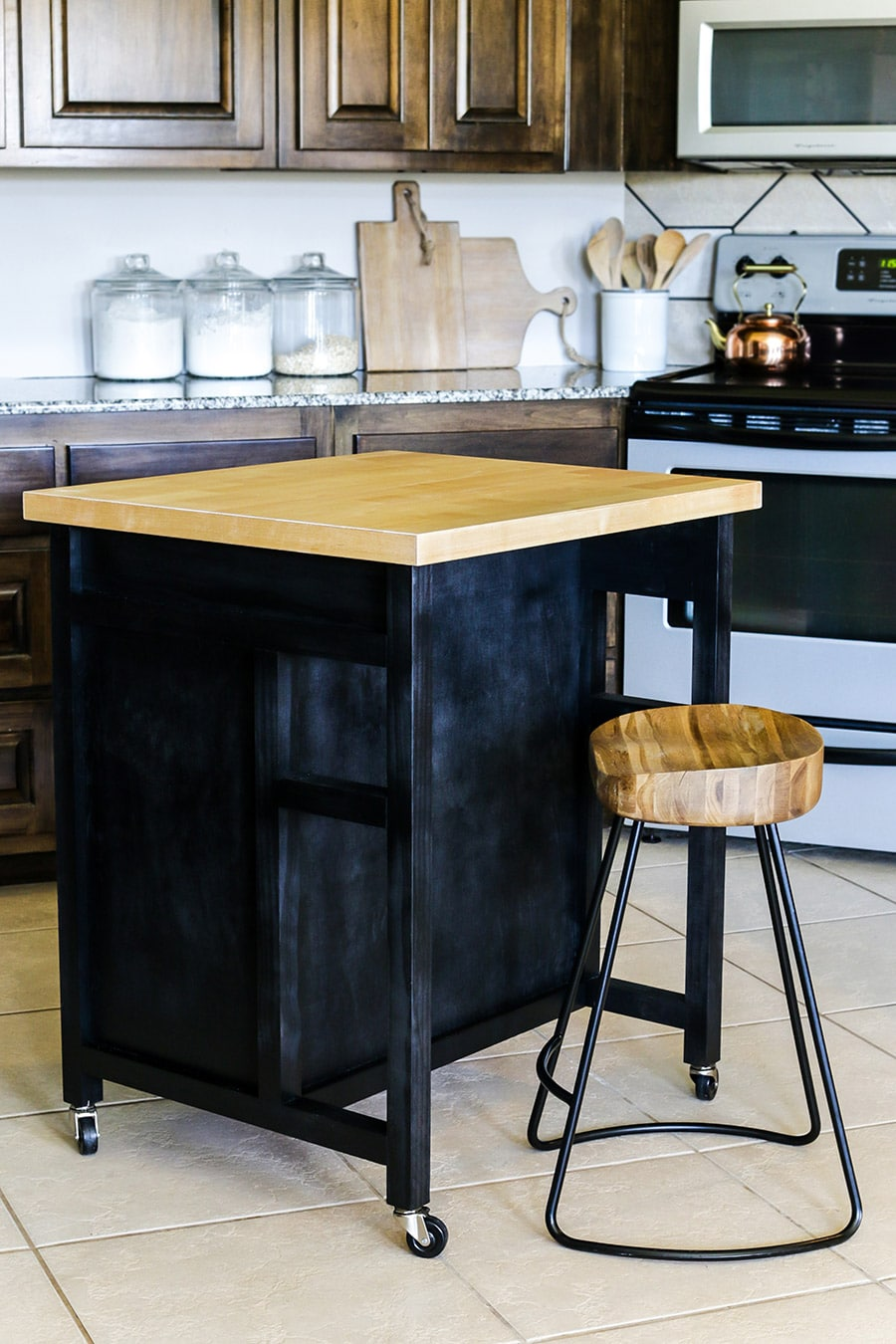 Rolling Kitchen Island Table Diy Rolling Kitchen Island