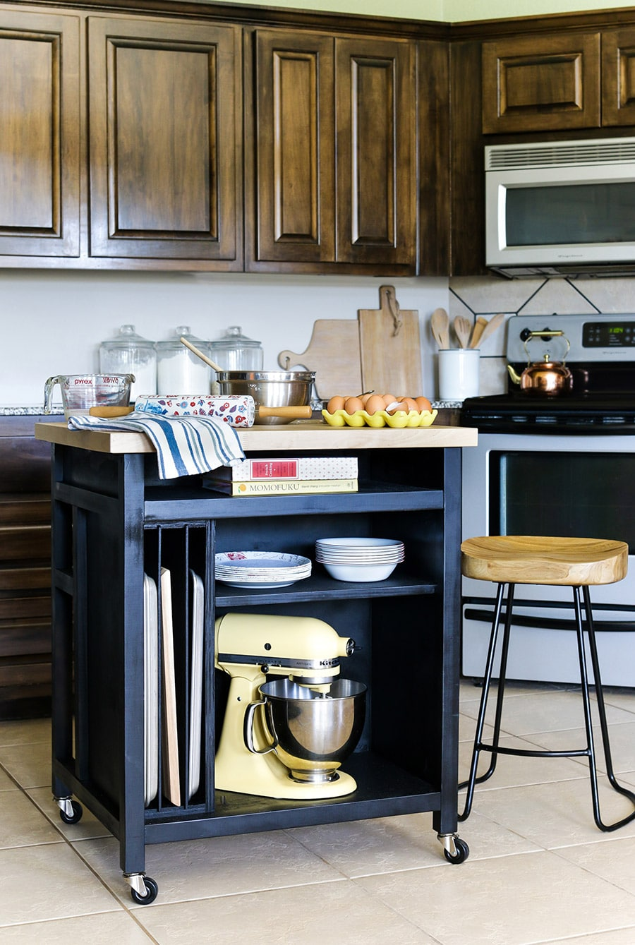 How to build a DIY kitchen island on wheels