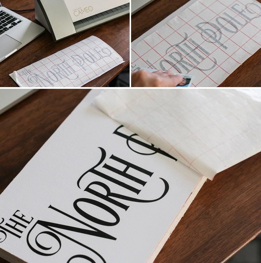 DIY North Pole Sign