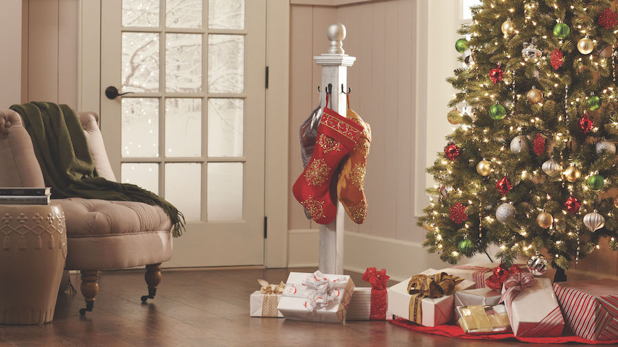 Come to The Home Depot DIY Workshop and learn how to make a DIY Holiday Stocking Holder