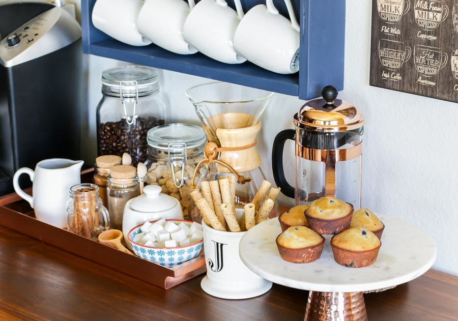 How to create a DIY coffee bar station