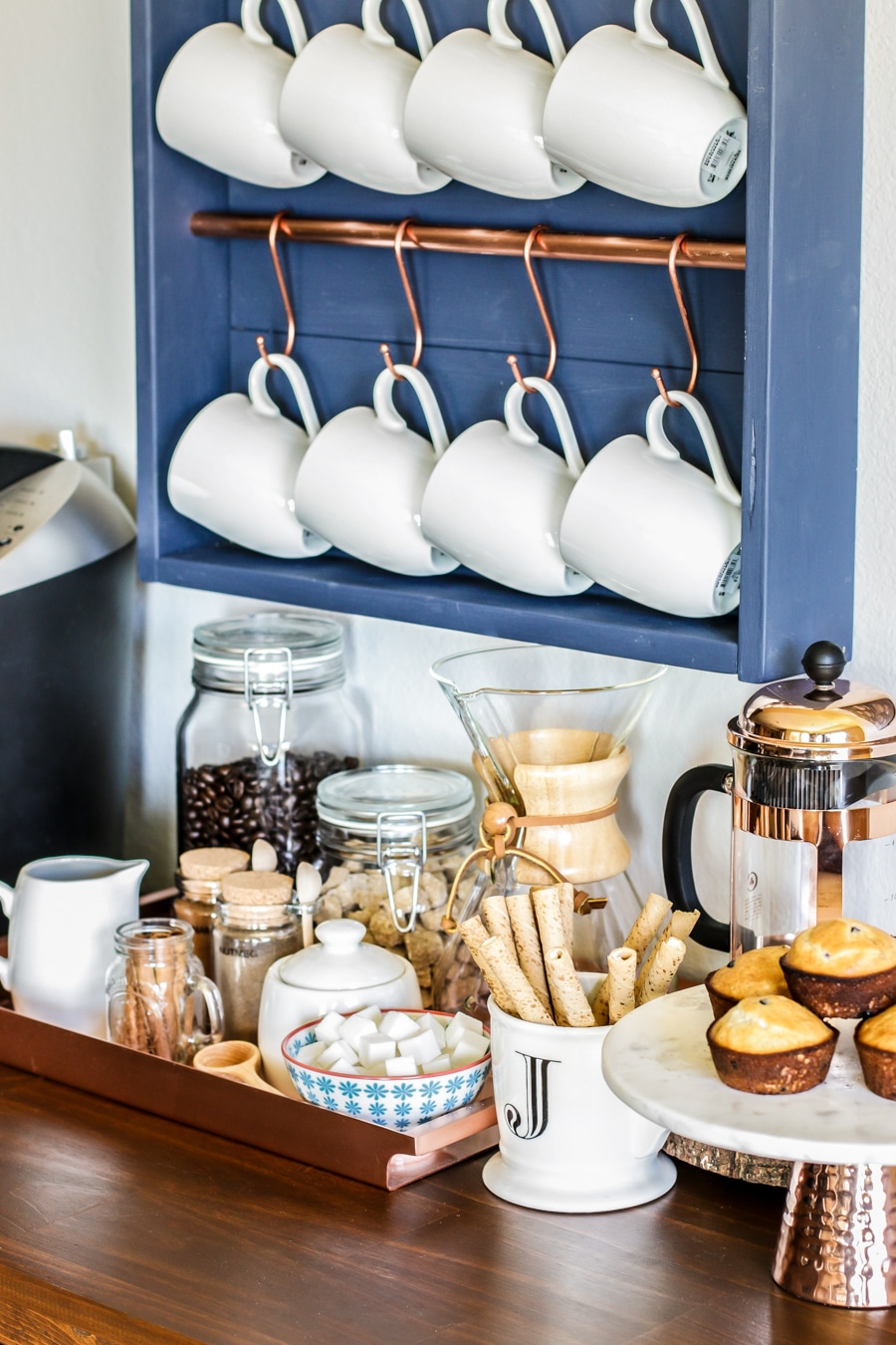 How to make a DIY coffee bar station