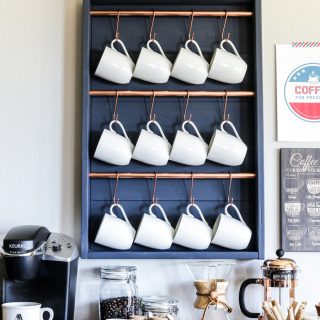 How to make your own DIY coffee bar station