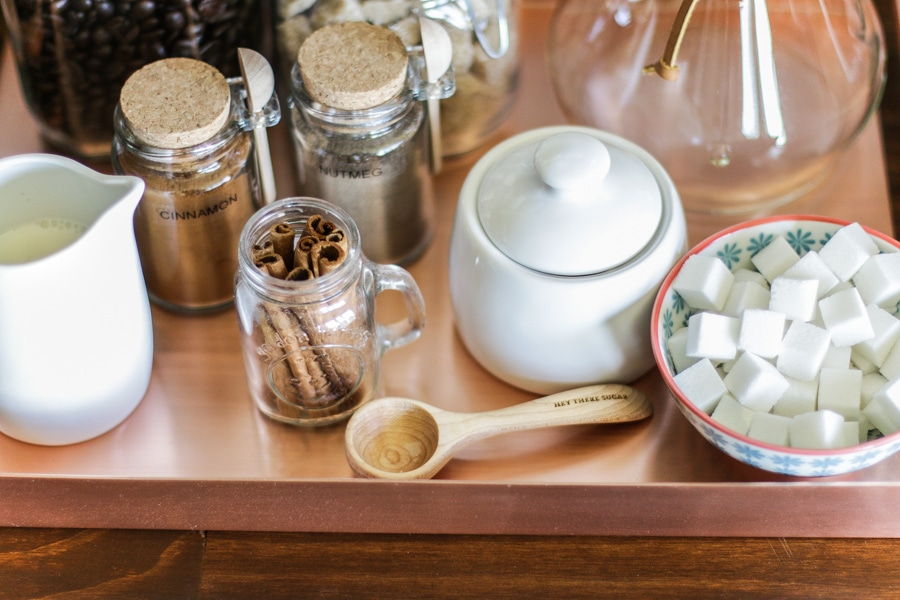 Make your own chic and stylish DIY coffee bar!
