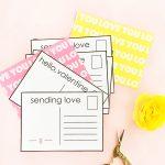 DIY Valentine's Postcards