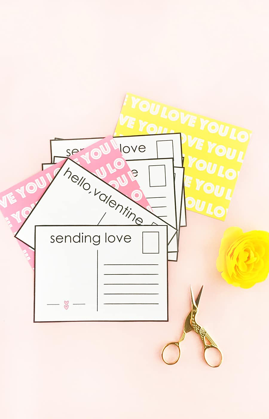 DIY Valentine's Postcards - Design, make and send your own postcards to loved ones this Valentine's
