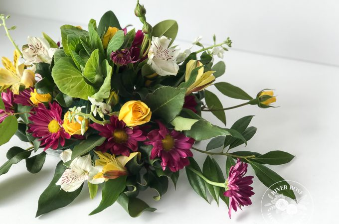 How to arrange flowers using store-bought bouquet
