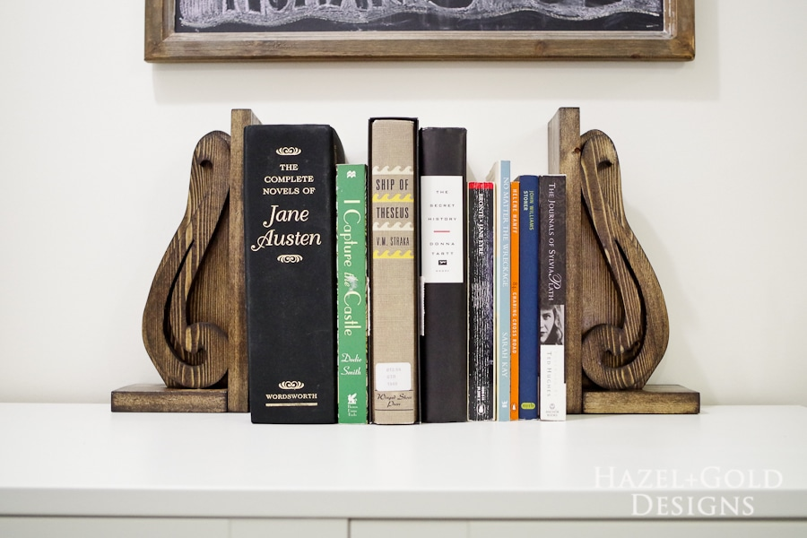 DIY Decorative Wooden Bookends- finished photo1