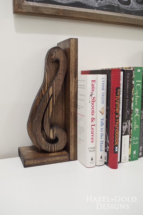 DIY Decorative Wooden Bookends- finished photo 3