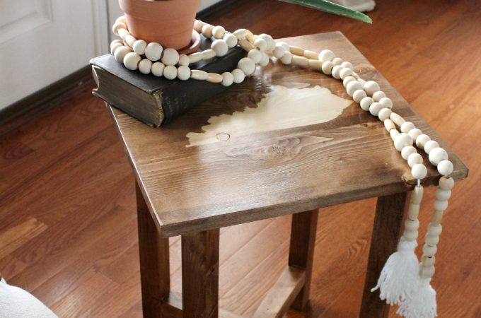 Learn how to build a simple DIY side table with a few basic tools and scrap wood!