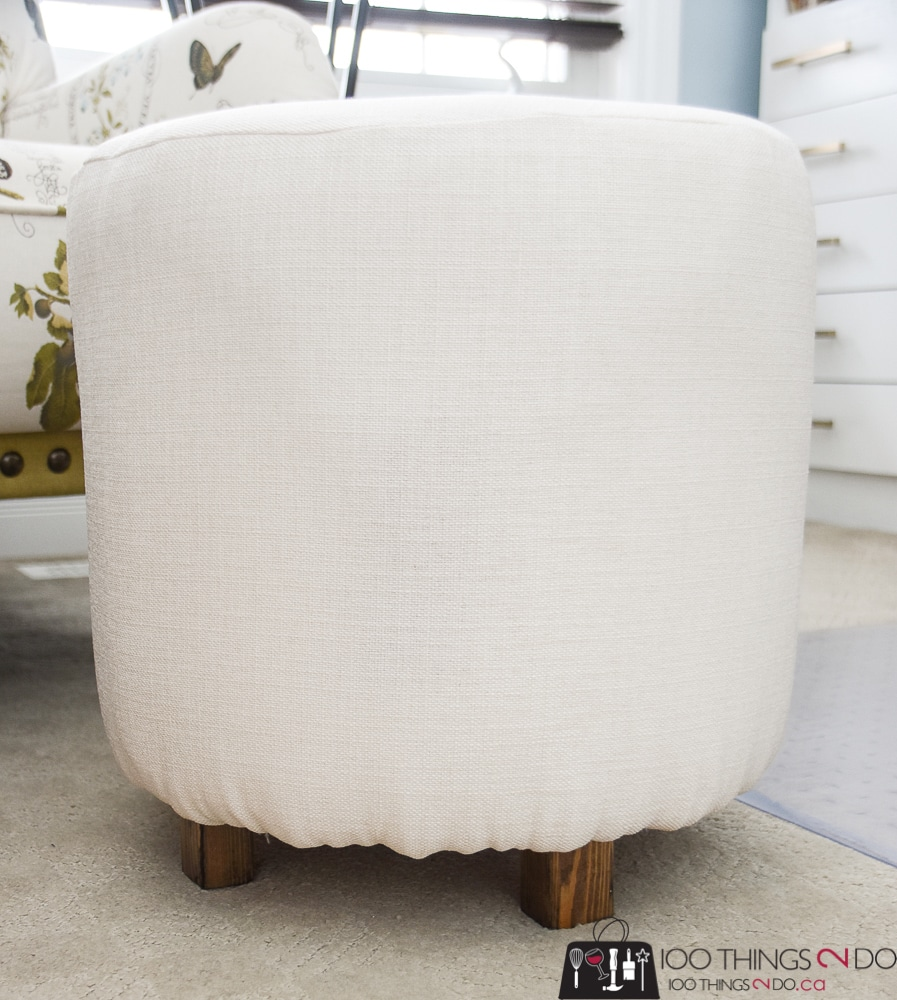 Make your own ottoman diy ottoman diy footstool round foot stool round